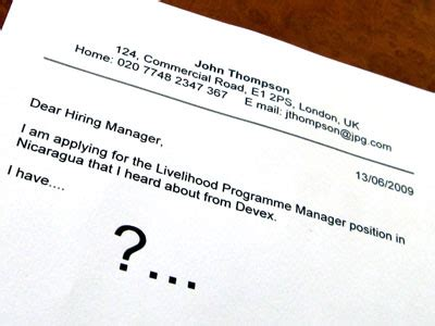 Addressing a Cover Letter When You Dont Know the Hiring